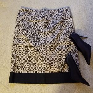 ☆ Talbots ☆ Black & Tan Pencil Skirt Size 10
